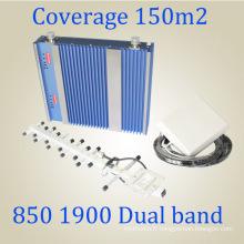 Répéteur de signal à bande double 27dBm CDMA PCS 850 / 1900MHz Signal Booster St-Cp27