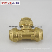 Brass Tee PE Fitting
