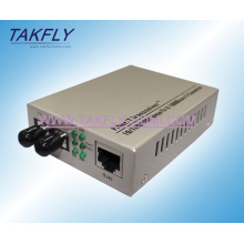 Convertidor de medios de la fibra óptica del modo 1310 / 1550nm Gigabit de la fibra dual de la fábrica de China