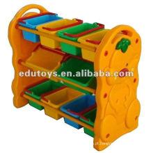 Prateleira para brinquedos para crianças de plástico
