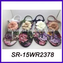 Plastikblumen billig Großhandel Sandalen barfuß Sandalen Sandalen Frauen