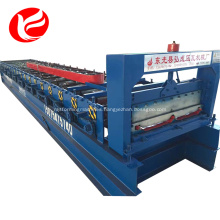 Joint-hidden roof and wall panel making machine