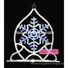 wholesale boutique sapphire crystal snowflake pageant tiara