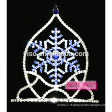 Venda por atacado boutique de flocos de neve de cristal safira tiara