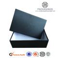 Boîte d'habillement de papier de Matt noir standard de luxe