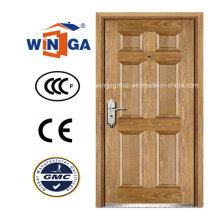 Puerta blindada de la chapa de MDF del acero de la seguridad del Winga del estilo del arte (W-B3)