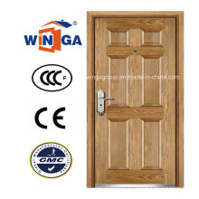 Style artistique Winga Security Steel MDF Veneer Armored Door (W-B3)