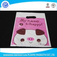 Bolsa de compras plástica plegable del PO con el logotipo para el embalaje del regalo