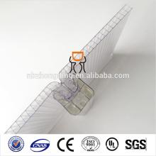 Panneau creux en polycarbonate à membrane imperméable à l'eau multiwall