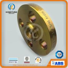 Brida forjada del reborde de la soldadura del zócalo del acero de carbono ASME B16.5 con TUV (KT0400)