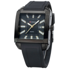 curren square quartz watch with silicone belt wholesale