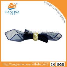 Tischdekoration Golden MOP Shell Serviette Ring mit Holz