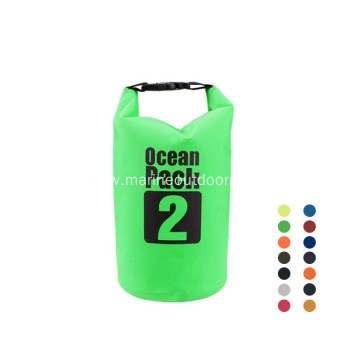 Outdoor Waterproof Durable Foldable Roll Top PVC 2L Dry Bag