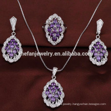 jewellery making supplies offer AAA zircon costume jewellery set Symbol of nature, perfection, perfect