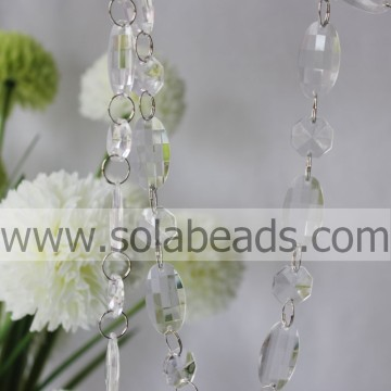 Cheapest 18MM&34MM Plastic Crystal Beading Chain Garland