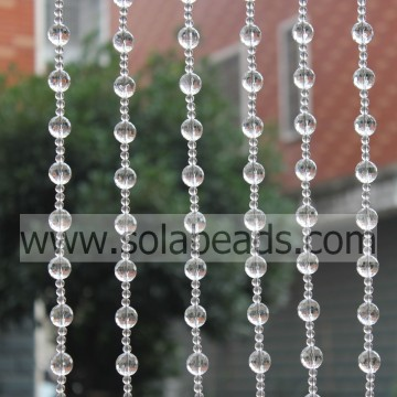 Event Decoration 16MM&6MM Wired Plastic Beading Garland Trim
