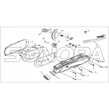L.CRANK CASE COVER Para LONGJIA FORMULA Spare Part Top Quality