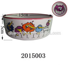 Lovely cat decal wholesale ceramic pet bowl