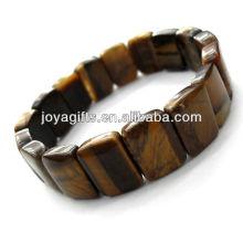 Tigereye pierres précieuses Rectangle Spacer perles stretch bracelet