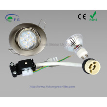 GU10 / MR16 LED-Einbauleuchte-Kit inklusive der Halterung, Lampe und Lampe