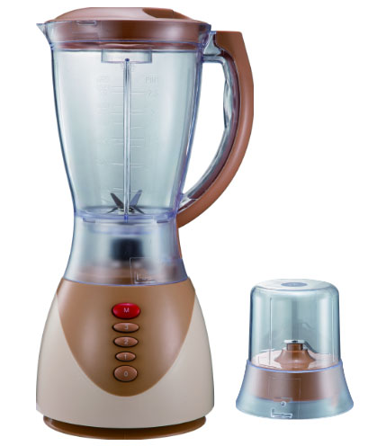 Push button blenders with grinder