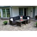 Jardim do pátio ao ar livre mobiliário vime sofá Lounge do rattan