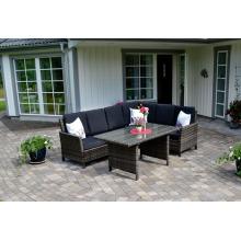 Сада ротанга открытый Патио Мебель Wicker диван гостиной набор