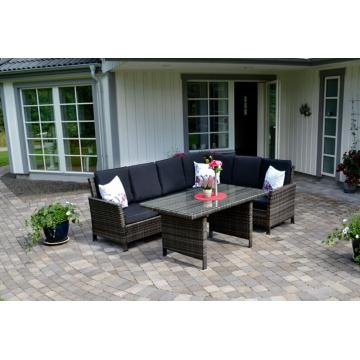 Garden Rattan Outdoor Patio Furniture Wicker Sofa Lounge Set