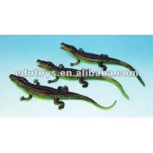 Jouets en crocodile en plastique