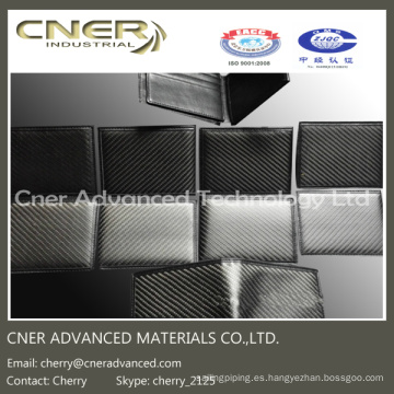 Cartera de lujo de fibra de carbono 100%, Clip de dinero de fibra de carbono / Monedero