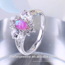 Bague fantaisie bague en laiton anneaux bijoux piston opale synthétique bague engagement indien