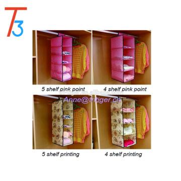 Multi-purpose wardrobe closet fabric hanging closet shelf organizer