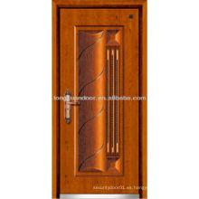 Puerta de metal de fuego clasificado, puertas de acero de seguridad con diseño moderno