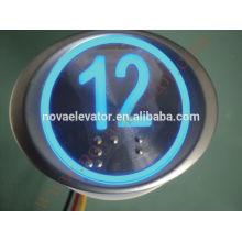 Interruptor de botón de 12 voltios, botón de COP, interruptor de botón de emergencia