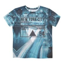 City printing on the t-shirt