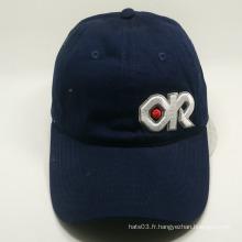 Lettre 3D broderie bleu marine couleur simple casquette de baseball