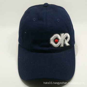 letter 3D embroidery navy color simple baseball cap