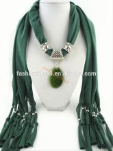 Fashion jewelry Resin alloy pendant necklace scarf charms scarves shawl resin jewelry scarf stole bufunda