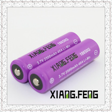 3.7V Xiangfeng 18650 2500mAh 40A Imr Batteries rechargeables au lithium rechargeables en ligne Buttom Top