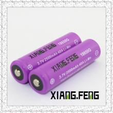 3.7V Xiangfeng 18650 2500mAh 40A Imr Аккумуляторные литиевые аккумуляторные батареи Интернет Ниппель Buttom Top