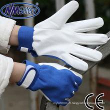 NMSAFETY travail lourd utiliser des gants de travail en cuir de chèvre