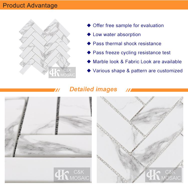 Natural carrara marble mosaic printing for houses