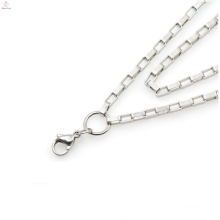 Chains of titanium surgical steel,chains necklaces jeweled Fashion jewelry Simple surgical steel long silver necklace chain