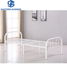Factory Wholesale Dormitory Steel Metal Single Student Bed Frame