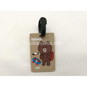 Personalized Cartoon Hang Soft PVC Luggage Tag