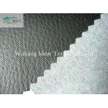 Preto em relevo PU couro tecido/falso PU couro tecido
