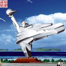 2016 Neue moderne Edelstahl-Skulptur Gemacht in China Urban Statue Erfolgreicher Fall