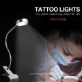 Vergrößerungslampe Rolling Clip Stand Facial Haut LED Tattoo Tischleuchte