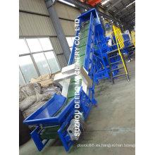 Máquina de reciclaje de residuos plásticos con alimentación forzada