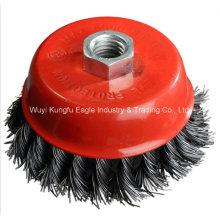 Kexin Supercopa de alambre de nudo trenzado cepillo de acero para la limpieza